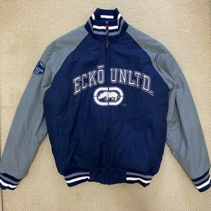 Ecko Unltd Puffer Varsity Jacket Men's Large
